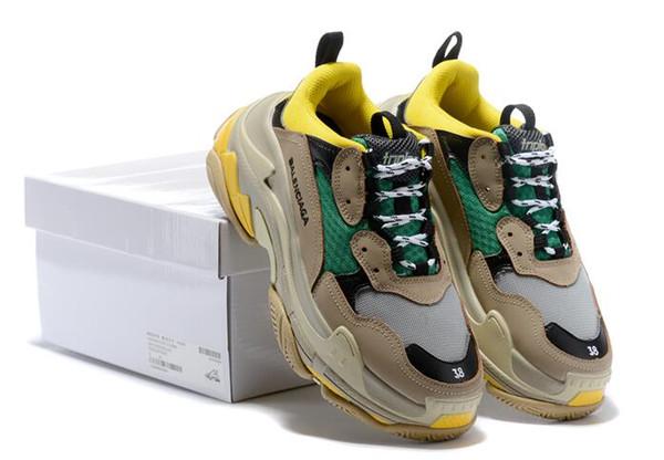 Üçlü S Paris 17FW Düşük Eski Baba Sneaker Kombinasyon Taban Çizme Womens Moda Üst Kalite Boyut 36-45 kutusu ile Casual Ayakkabı tasarımcıları