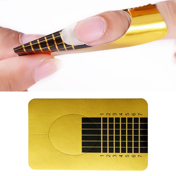 20 Stücke Nagelform für Tränken Weg Vom UV Gel Schnellverlängerung Nagel Gel Gold Professionelle Nail art Design Werkzeuge