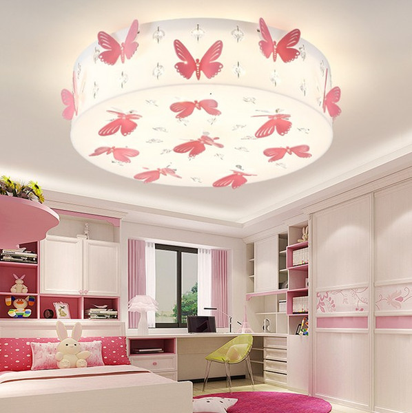 2019 Romantic Butterfly Girls Room Ceiling Lamp Fashion LED Princess Room  Crystal Ceiling Light Bedroom Ceiling LightingLLFA From Nimiled, $272.09 |  ...