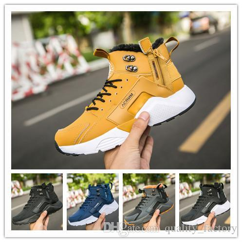 NEW Huarache Leather High Top Huaraches Run Mens Women Trainers Running Hiking Sneakers Designer Shoes SIZE36-45