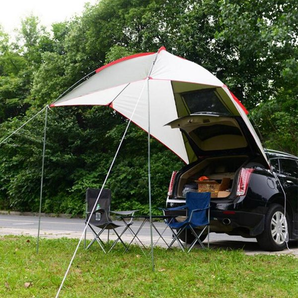 Outdoor Camping Car Tail Tent Waterproof Portable Fishing Shelter Camping Skylight Canopy Car Awning Cover Tent