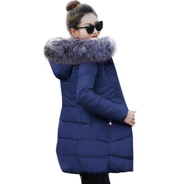 2019 Winter Jacket Women 5XL Plus Size Womens Parkas Thicken Outerwear hooded Winter Coat Female Jacket Cotton padded basic tops T190610