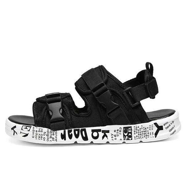 Sandali da uomo Sandali con tacco basso per le scarpe estive Scarpe da uomo con cinturino alla caviglia Bottoni morbidi Bottom Scarpe casual 39-44