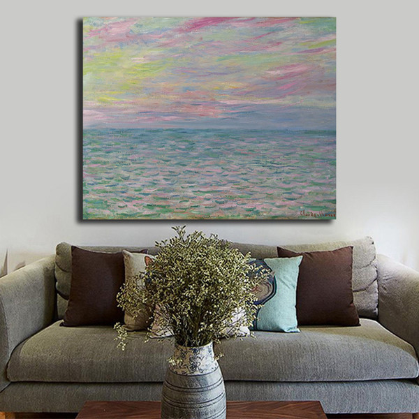 Acquista Impressionista Claude Monet Sea Ocean Landscape Canvas Painting  Stampa Camera Da Letto Home Decor Modern Wall Art Pittura A Olio Poster ...
