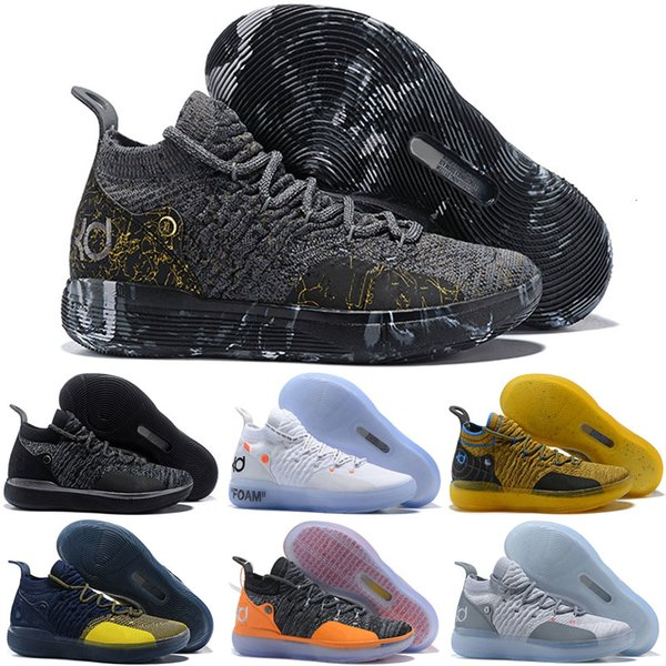 2019 Nouveau KD 11 Cool Grey Paranoid EYBL Basketball Chaussures Hommes KD 11s Kevin Durant Chaussures de sport