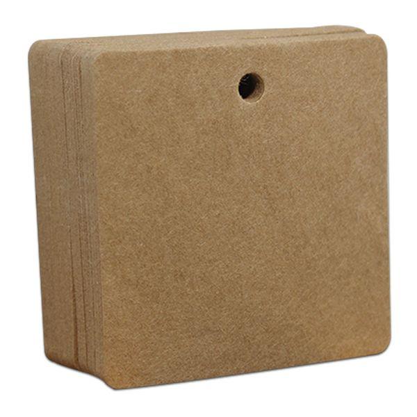 6x6cm Quadrato marrone