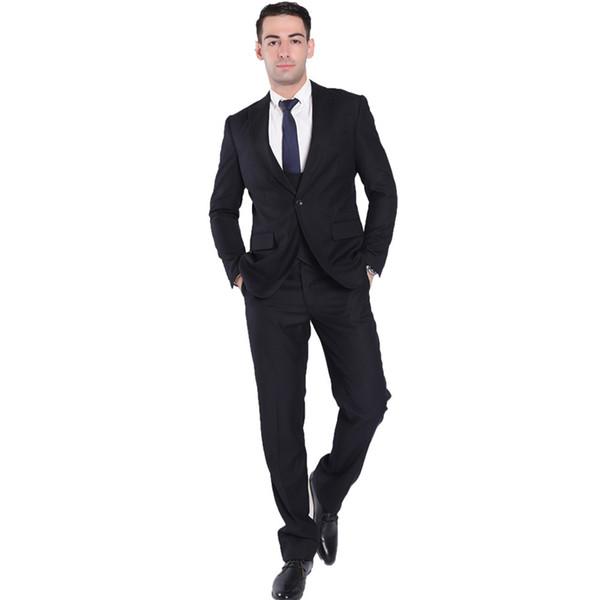 3pc Set LuxuxMens Suits Set schwarze formale Hosen Blazer Weste Heirat Tuxedo männlich Anzug Set Terno Hochzeit Männer nehmen Anzug