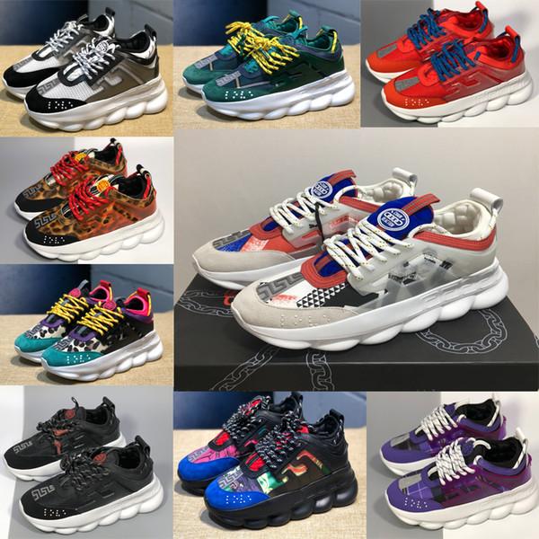 2019 en iyi Tasarımcı Zincir Reaksiyon artış harika Sneakers çift Erkek Bayan Casual Marka Ayakkabı chauss Sneakersversace Sneakers