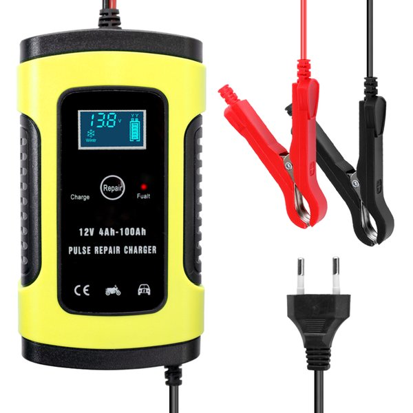 top popular Automatic Car Battery Charger Power Pulse Repair Chargers Wet Dry Lead Acid Battery chargers Digital LCD Display 12V 6A Full 2021