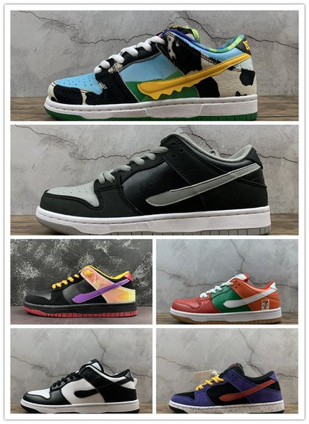 top popular sb dunk low sneakers skateboard running shoes sneaker trainer Chunky Dunky J-Pack Shadow 7-11 Appetite for Destruction trainers kids adult 2020