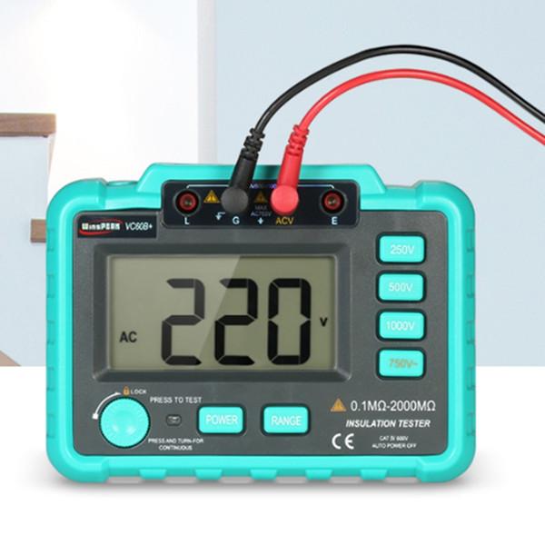Hot sale Digital Insulation Resistance Meter VC60B+Megohm Megohmmeter Earth Ground Resistance Impedance Tester Short Circuit DC250V/1000V fr