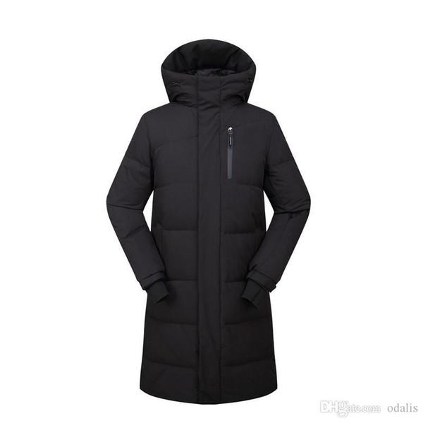 Parkas larga para hombre de la marca chaquetas de invierno 3 colores diseño de la cremallera delgada de capas calientes al aire libre por la chaqueta cortavientos