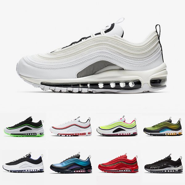 Nike Air max 97 shoes Regency purple Laser Fuchsia Women Men Running Shoes Sliver Bullet South Beach Gym red White Outdoor Sports outdoor Sneakers 36-45