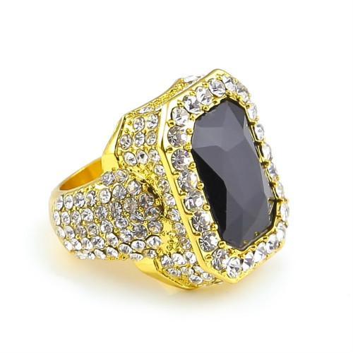 Gold with black gem