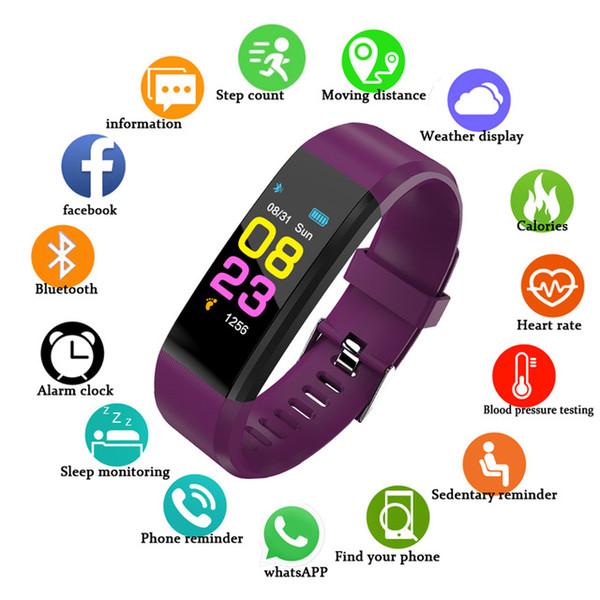 2019 НОВЫЙ Schnoah ID115 Шагомер Smart Uhr Zeit Datum Display Armbanduhr Schritt Montre Bluetooth Verbindung Uhr pk Fitbits
