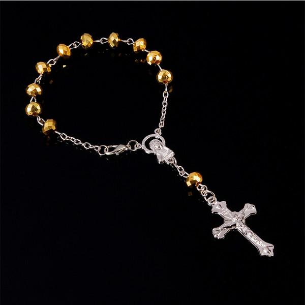 48 units / Christian Cruz plastic crystal bracelet of Rosario child communion baptism baby catholic Mini rosary