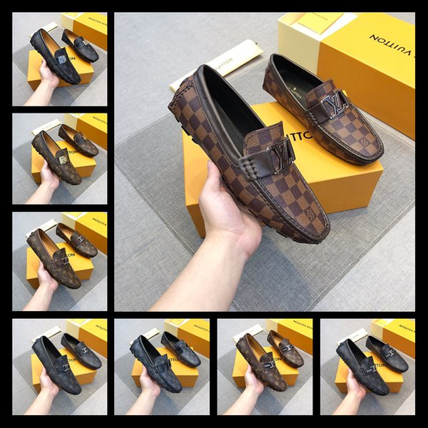 2019 28 colors Genuine Leather and Suede stitching with Bow-tie Handmade Men's dress shoes luxurious Men's loafers