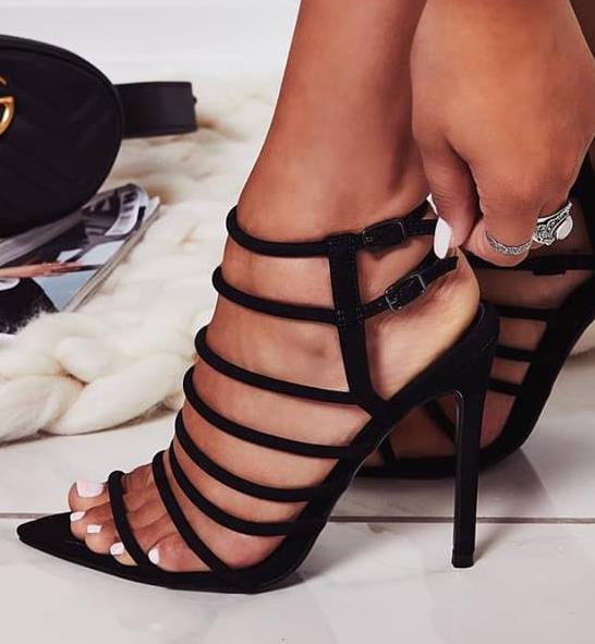 40 Talons À Pointure Sandales Gladiateur Noir 35 13 Hauts Acheter Étroite Lanières Femmes Bout De29 Mode Chaussures Multi Du Bande Pointu n0wk8PXO