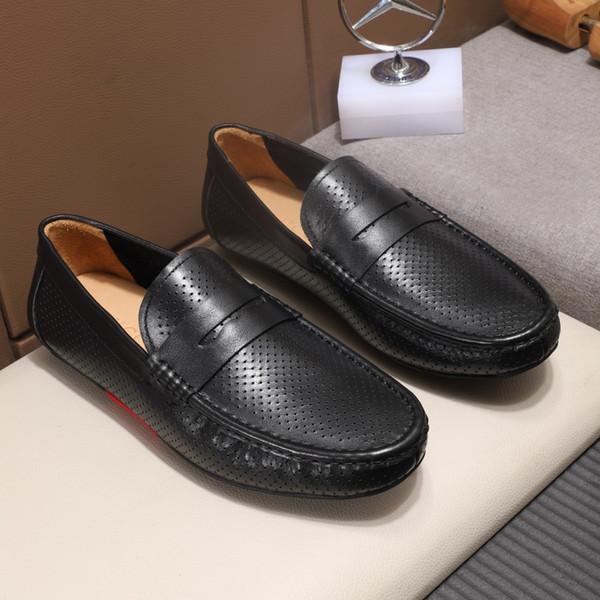 2019 yeni sıcak erkekler rahat düz alt loafer'lar moda lüks tasarımcı bezelye ayakkabı klasik eski moda sürüş ayakkabı