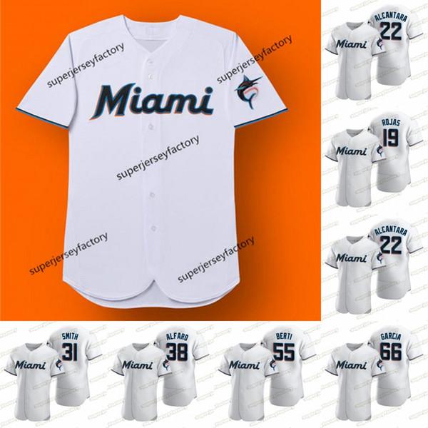 Miami 2020 Sezon NK Jersey Ichiro Suzuki Ken Griffey Jr.Edgar Martinez Sandy Alcantara Caleb Smith Jorge Alfaro Jon Berti Jose Urena