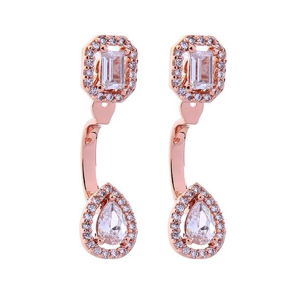 Schmuck 925 Silber Nadel geometrischen Zirkon mit Diamant Ohrringe weiblichen japanischen und koreanischen Stil Mode Ohrringe gesetzt
