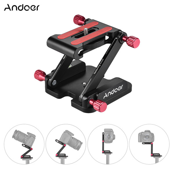 Tripod Accessories Tripod Heads Andoer Z Flex Tilt Head Folding Quick Release Plate Camera Ball Head Stand Max Load 3.5kg for DSLR