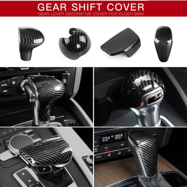 Audi A3 A4 A5 A6 A7 S3 S6 Q5 Q7 Sline S line Carbon Fiber ABS Plastic Cutch Gear Shift Cover Case Emblem Sticker