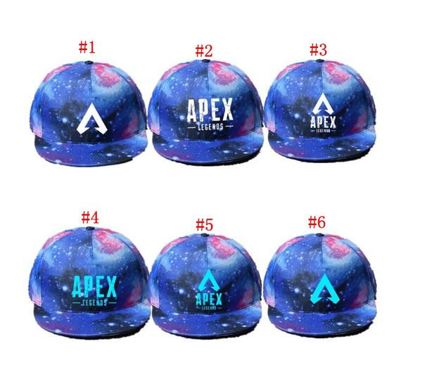 APEX Legend Caps Hero Game Sternenhimmel Brief Leuchtende Baseballmütze Hip Hop Hut Unisex Outdoor Sports Caps MMA1557