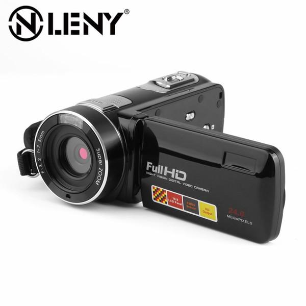 Caméra vidéo numérique Full HD 1080P 3.0 Écran tactile LCD Mini caméscope rotatif à 270 degrés Zoom numérique 24 X CMOS HDX301 US