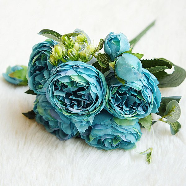 5PCS/Set Restaurant Wedding Decoration Desktop Handmade Fake Rose Simulation Office Beautiful Artificial Flower Gift Romantic