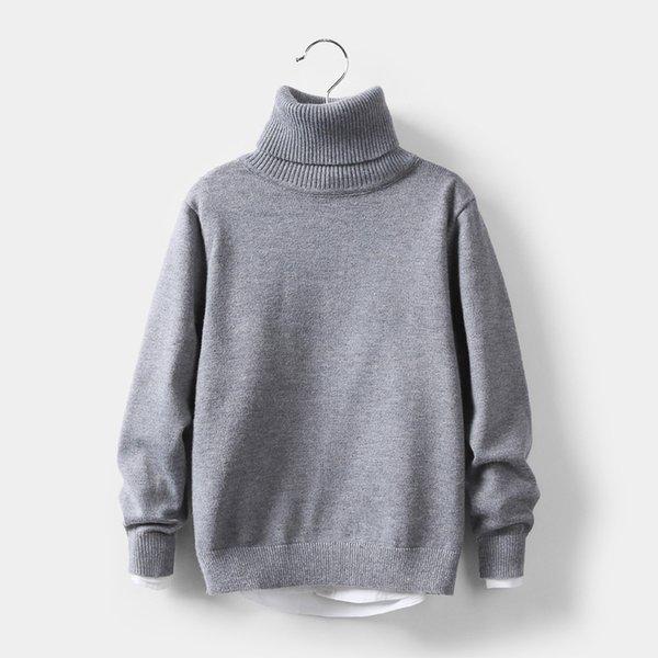Enfants Pulls 2019 Vêtements Automne Hiver Tout-petits enfants Col haut __gVirt_NP_NN_NNPS<__ manteau chaud de vêtements d'extérieur pour bébé Garçons Filles 3-10 Année Dwq496