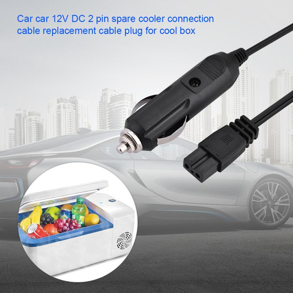 VBESTLIFE Car Power Cable 3M DC 12V 2Pin Lighter Plug with cigarette lighter port for all Car Cooler Cool Box vehicle model Free Shipping