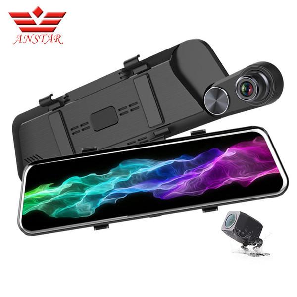 Anstar F960 داش كاميرا مسجل 10 بوصة لمس مرآة الرؤية الخلفية سيارة dvr كامل hd 1080 وعاء مسجلات الفيديو للرؤية الليلية مرآة dvr