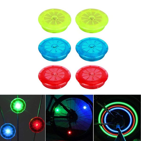 Bike light mountain road Bike bicycle lights Colorful Light Bicycle Wheel Tire Steel Wire rim LED Cycling Flash #L4