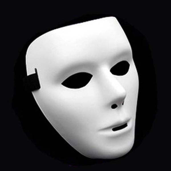 Masque d'Halloween Fashion Cosplay Party Adulte Visage complet Masque Blanc Masque Grimace Rue Fantôme Danse Masques Danseur Masques Masque Hip-Hop DBC VT1702