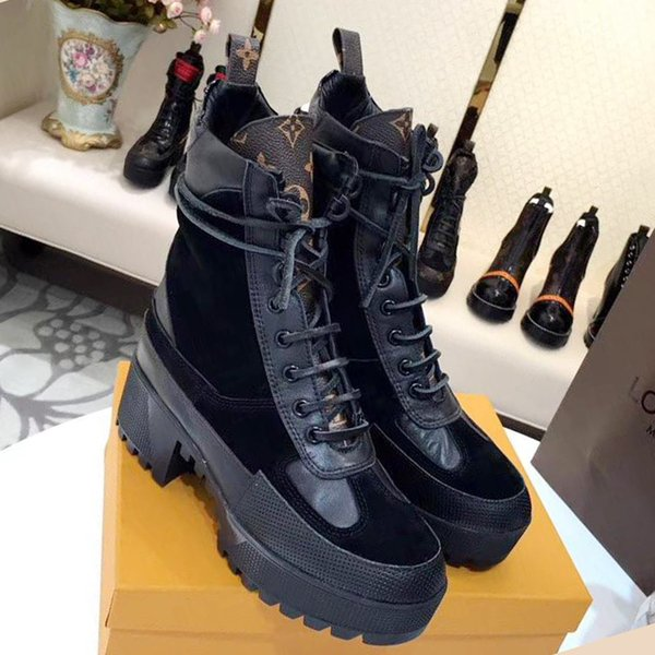 Women Ankle Boots Fashion Bottes Femmes Laureate Platform Desert Boot 2019 Womens Footwears Botas de mujer with Original Box Fast Ship