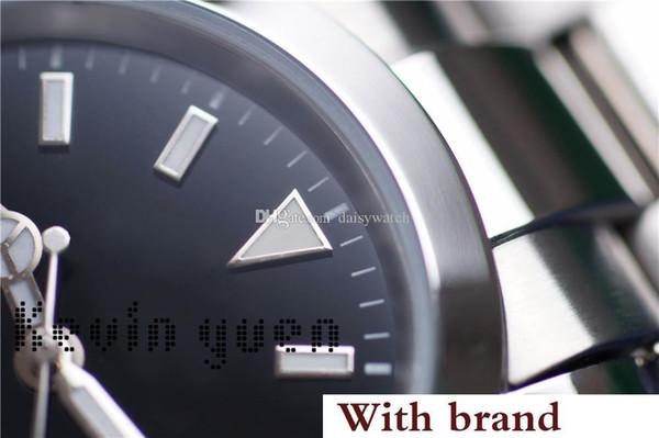 Chegada nova Relógio De Luxo Explorador Mostrador Preto de Aço Inoxidável Relógio Automático Reloj De Lujo montre Relojes De Marca Relógio De Pulso