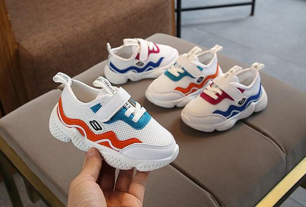 Popular children's shoes spring 2019 new boys and girls version of the Korean sneakers children's leisure running shoes net cloth children's