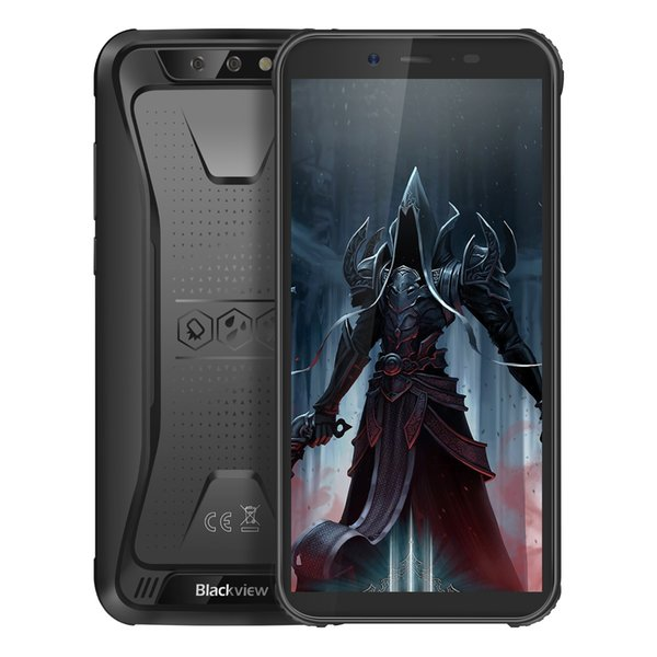 3GB 16GB Blackview BV5500 Pro 4G LTE IP68 Waterproof 64-Bit Quad Core MTK6739 Android 9.0 NFC GPS Face ID 4400mAh Battery Rugged Smartphone
