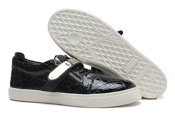 Großhandel 2019 Black Stone Print Single Eisenblech Low Top Männer Bequeme Schuhe Mode Plattform Leder Turnschuhe Schuhe Hochwertige Schuhe Von