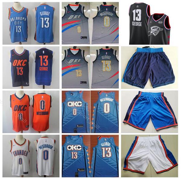 sale retailer c5765 c2bd5 2019 City Earned Edition Russell Westbrook Jerseys 0 Men Basketball Thunder  Paul George Jersey 13 Steven Adams 12 Short Blue White Orange From ...