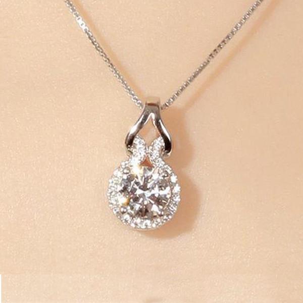 Мода Серебряный Цвет Длинной Цепи Кристалл Тыква Ожерелье Для Женщин Ювелирные Изделия Collares Mujer