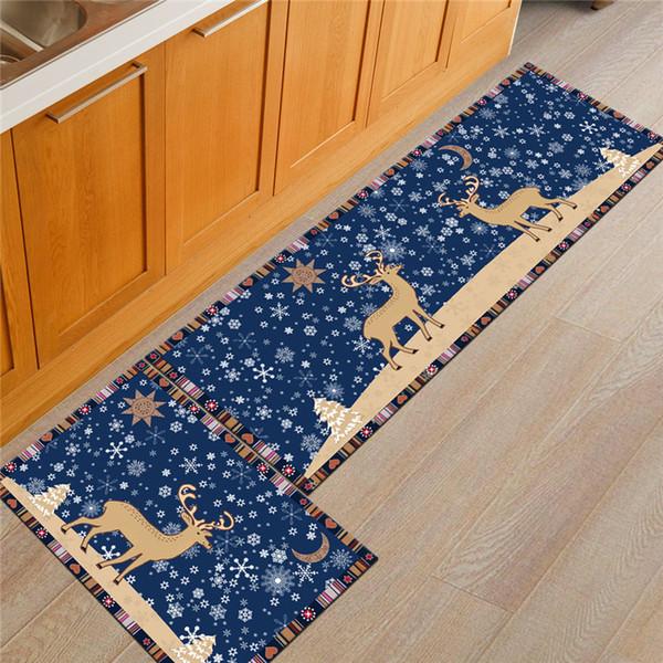 Nordic Rug Soft Non-slip Christmas Elk Doormat Bedroom Area Rugs Kitchen Modern Floor Mat 3D Rug and Carpet for Home Living Room