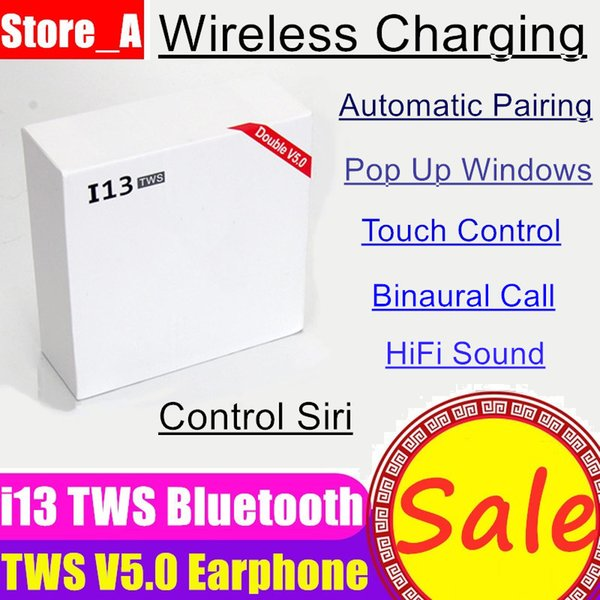 i13 tws Mini Bluetooth Drahtlose Kopfhörer Ohrhörer Mit Ladekiste Touch Control Siri V5.0 Drahtloses Ladegerät Headsets für iPhone X Max XS