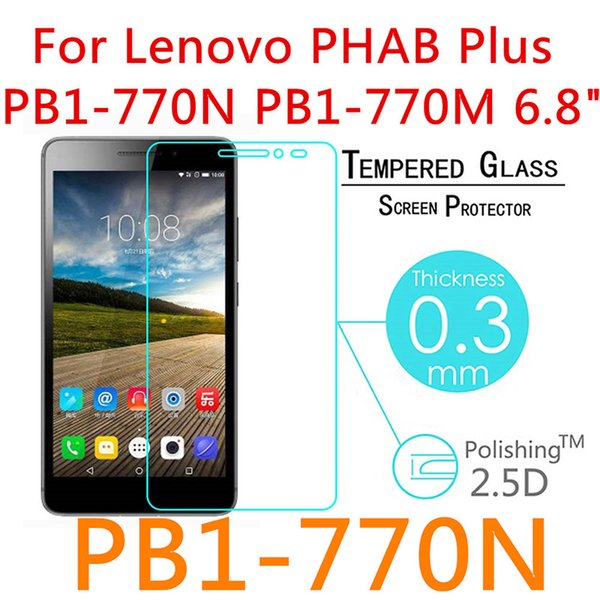 "top popular 5pcs For Lenovo Phab 1 Plus PB1-770N PB1 770 770N 6.8"" Screen Protector Tablet Film Guard Front Transparent Glass 9H 2019"