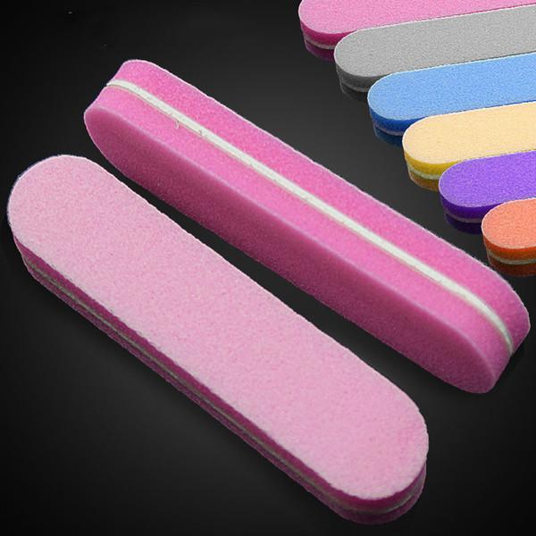5pcs/lot Colorful Mini Nail Files Buffer Block Sponge Nail Art File Disposable Sanding Polishing Grinding Manicure Tools