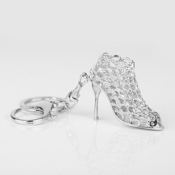 Mode Metall hochhackige Schuhe Automobile Keychain Schlüsselanhänger Kette Frau