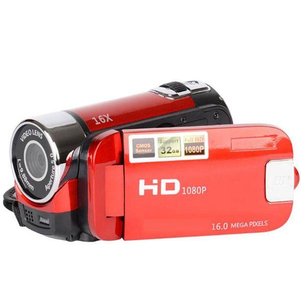 2.4 Inch TFT Screen 16X Digital Zoom DV Video Camcorder HD 1080P Handheld Digital Camera CMOS Sensor Up To 32 GB SD(Red)