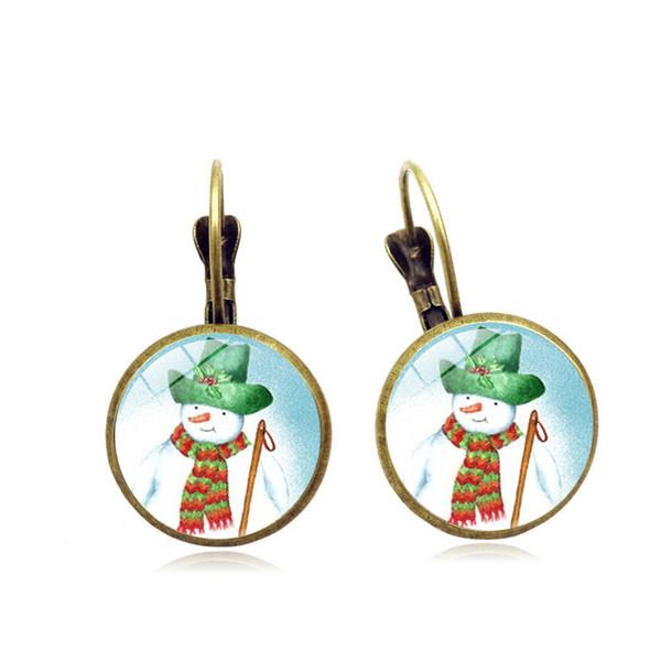 Specification8 earrings simple Christmas cat snowman time gemstone earrings earrings ear hook European and American personality jewelry