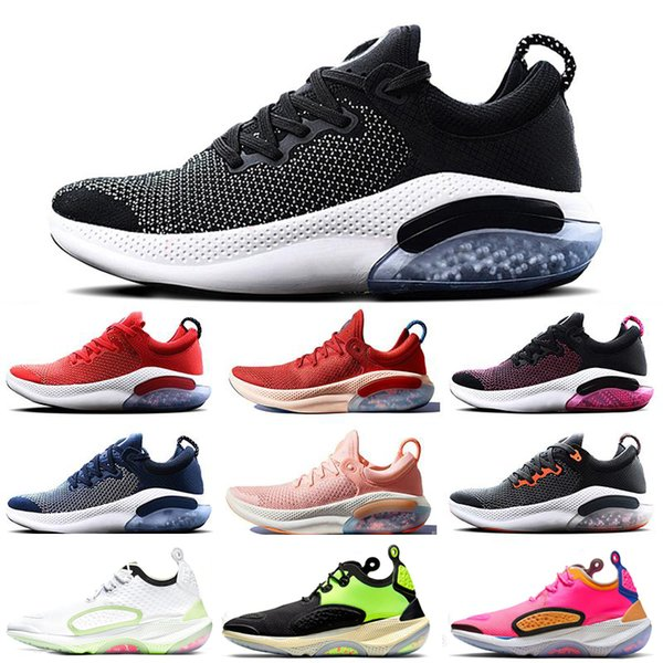 top popular Free shipping Joyride Run FK Men Women Running Shoes Trainers Triple Black White Racer Blue React tn Designers Sports Sneakers Zapatos Shoes 2019
